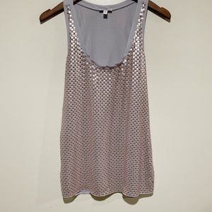 Express | Silver Sequined Tank Top